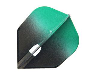ダーツフライト【フライトエル】シェイプ シャンパンリング対応 グラデーションブラック グリーン