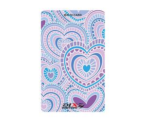 ダーツゲームカード【D-1X】NO.15 ハートパターン ブルー