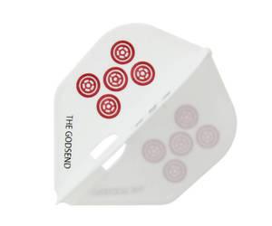 ダーツフライト【フライトエル×カメオ】GODSENDシリーズ RED TILES 赤牌 筒子/Circles