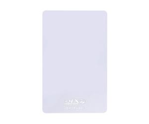 ダーツゲームカード【D-1X】NO.23 ホワイト無地 縦向き (シルバー箔押し)