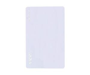 ダーツゲームカード【D-1X】NO.24 ホワイト無地 横向き (シルバー箔押し)