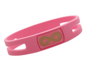 ダーツスポーツアクセサリ【インフィニティバランス】ブレスレット ゴールドバージョン ピンク L