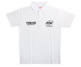 ダーツアパレル【PDJ】PDC TOKYO DARTS MASTERS 2016限定 ポロシャツ ホワイト