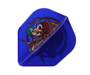 ダーツフライト【フライトエル×ジョニーズクラブ】安食賢一モデル シャンパンフライト リング一体型 ブルー