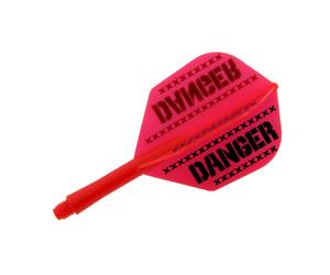 ダーツフライト【プテラファクトリー】シャフト一体型フライト シームレス DANGER MIX