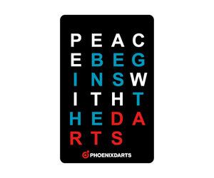 ダーツゲームカード【フェニックス】NO.2028 PEACE BEGINS・・・