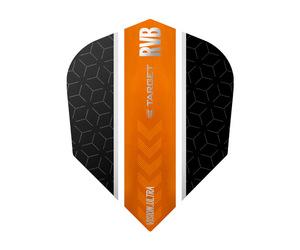 ダーツフライト【ターゲット】ヴィジョン ウルトラ シェイプ RVB ストライプ ブラック/オレンジ 331530