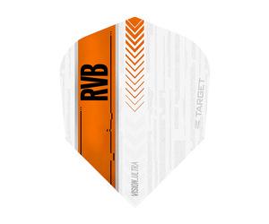 ダーツフライト【ターゲット】ヴィジョン ウルトラ シェイプ RVB ホワイト/オレンジ 332000