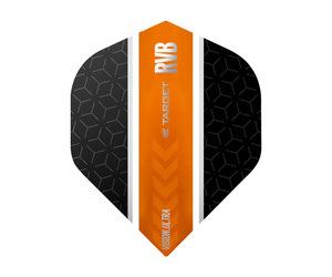 ダーツフライト【ターゲット】ヴィジョン ウルトラ スタンダード RVB ストライプ ブラック/オレンジ 331790
