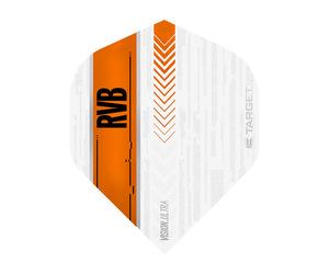 ダーツフライト【ターゲット】ヴィジョン ウルトラ スタンダード RVB ホワイト/オレンジ 332020