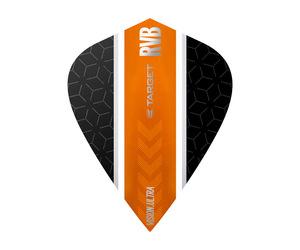 ダーツフライト【ターゲット】ヴィジョン ウルトラ カイト RVB ストライプ ブラック/オレンジ 331800