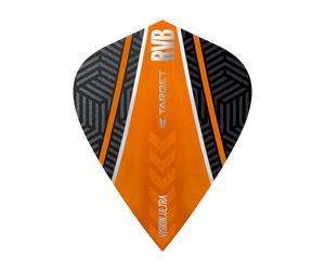ダーツフライト【ターゲット】ヴィジョン ウルトラ カイト RVB カーブ ブラック/オレンジ 332060