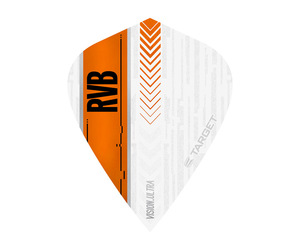ダーツフライト【ターゲット】ヴィジョン ウルトラ カイト RVB ホワイト/オレンジ 332030