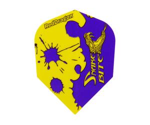 ダーツフライト【レッドドラゴン】スネークバイト ピーター・ライトモデル シェイプ パープル&イエロー F2200