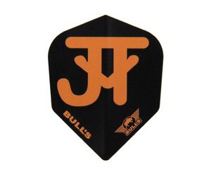 ダーツフライト【ブルズ】パワーフライト ジャスティン・ヴァン・テガーモデル シェイプ ブラック×オレンジ