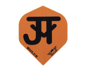 ダーツフライト【ブルズ】パワーフライト ジャスティン・ヴァン・テガーモデル スタンダード オレンジ×ブラック