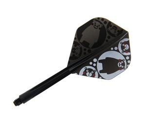 ダーツフライト【コンドル】くまモン柄 丸 スタンダード ロング ブラック