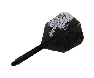 ダーツフライト【コンドル】ホゼ・オーガスト・オリベラ・デ・ソーサーモデル BULL スモール ミディアム ブラック