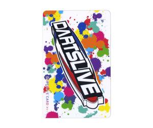 ダーツゲームカード【ダーツライブ】NO.1749 ロゴ カラフルペイント 白