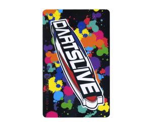 ダーツゲームカード【ダーツライブ】NO.1750 ロゴ カラフルペイント 黒