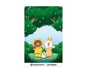 ダーツゲームカード【フェニックス】フェニカ LINE FRIENDS フォレスト FOREST