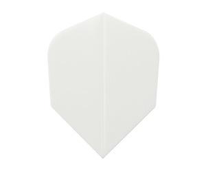 ダーツフライト【エスフォー】完全無地 シェイプ ホワイト