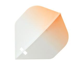 ダーツ フライト【フライトエル】スタンダード グラデーション・ホワイト オレンジ