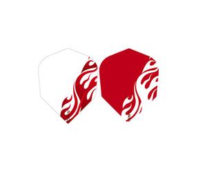 ダーツフライト【プロ】デザインフライト RED FIRE