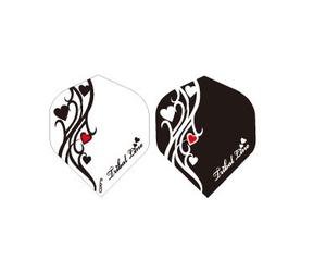 ダーツフライト【プロ】アドバンスシリーズ Tribal Line Heart BK