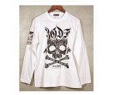 ダーツアパレル【3G】MT-14(Feather Skull ホワイト) ロングスリーブTシャツ