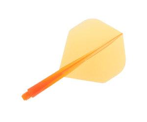 ダーツフライト【コンドル】スタンダード ショート クリアオレンジ