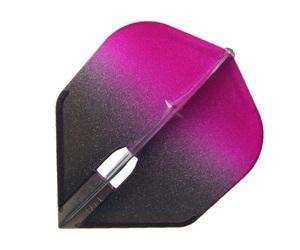 ダーツフライト【フライトエル】シェイプ シャンパンリング対応 グラデーションブラック ピンク