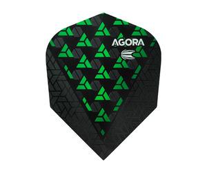 ダーツフライト【ターゲット】ヴィジョン ウルトラ ゴースト シェイプ AGORA グリーン 332430