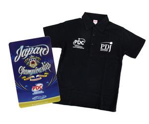 DARTS ACCESSORIES【 PDJ 】JapanChampionship 2017記念D2卡+Shirt SET Black