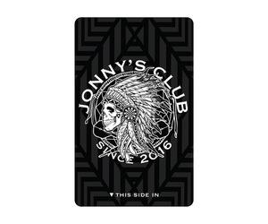 ダーツゲームカード【ダーツライブ】ジョニーズクラブ ブラック/ホワイト
