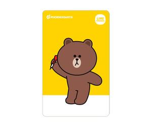 ダーツゲームカード【フェニックス】フェニカ LINE FRIENDS ブラウン 2nd