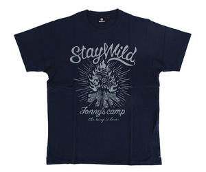 DARTS APPAREL【 SHADE 】Jonny's Camp T-shirts 安食賢一 Model navy