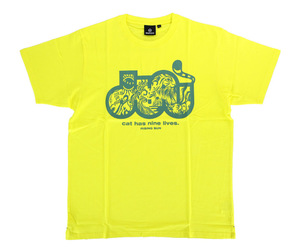 DARTS APPAREL【SHADE】cat has nine lives T-shirts 村松治樹 Model yellow